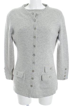 Antonia Zander Knitted Twin Set light grey flecked casual look