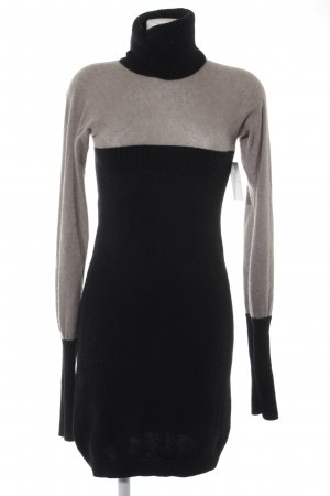 Antonia Zander Knitted Dress black-light grey casual look