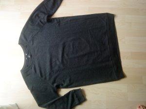 antrhazitfarbenes Oversized-Longsweatshirt M von HM 38