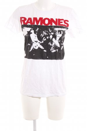 Anvil T-Shirt platzierter Druck Punk-Look