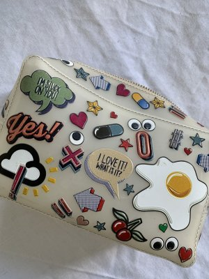 Anya Hindmarch Allover Wink Sticker Cosmetics Bag Multi Kosmetiktasche Clutch