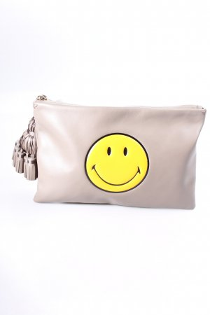 "Anya hindmarch Clutch ""Georgiana Smiley Clutch Medium Grey Circus"""