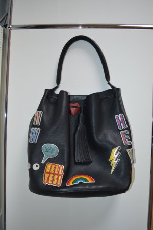 Anya hindmarch Carry Bag black-neon blue leather