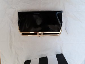 Anya hindmarch Clutch black-gold-colored leather