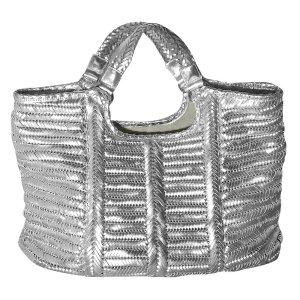 Anya Hindmarch Shopper Tasche aus Leder in Silber