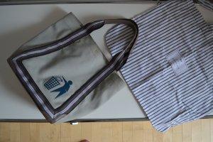 Anya hindmarch Shopper brun fibre textile