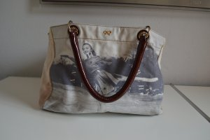 Anya hindmarch Shopper sand brown cotton
