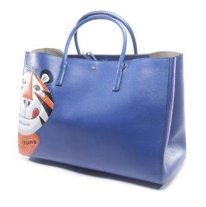 Anya hindmarch Borsa larga blu-arancione