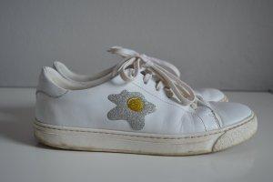 Anya hindmarch Sneaker stringata bianco Pelle