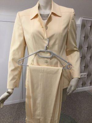 Ambiente Pantalone da abito giallo chiaro-crema
