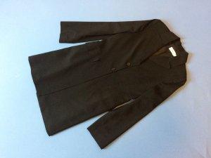 Anzug aus feiner Wolle mit Longblazer und weit geschnittener Hose | 38
