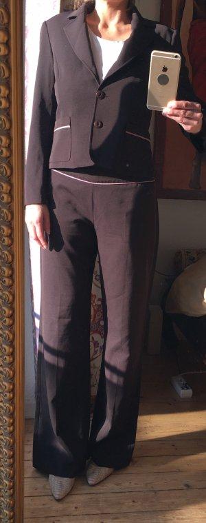 Anzug, braun-rosa, Größe 40
