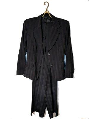 Traje de pantalón negro tejido mezclado