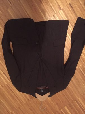 H&M Pinstripe Suit brown