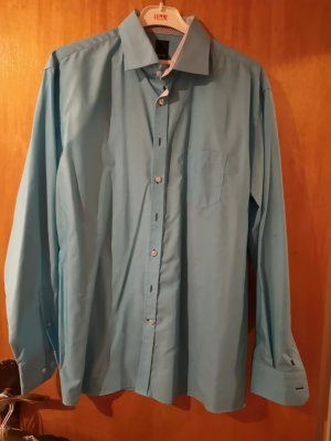 Pure Camicia elegante azzurro-celeste Cotone