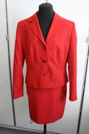 Amalfi Ladies' Suit dark red mixture fibre