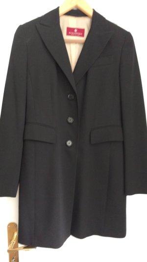 Dinomoda Traje de pantalón negro lana de esquila