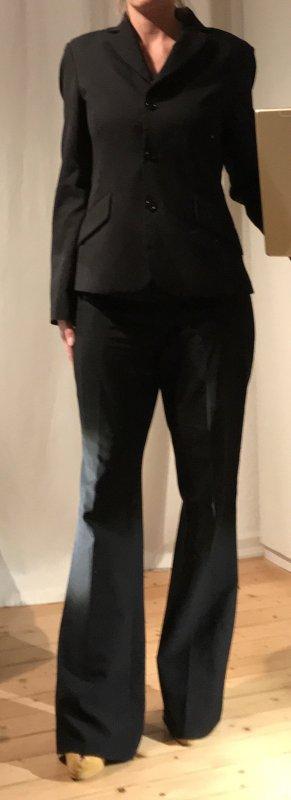 Benetton Traje de pantalón negro
