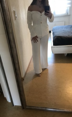 Traje de pantalón blanco