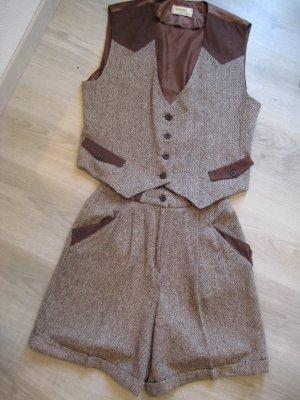 Broekpak brons-beige Wol