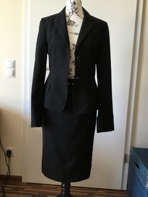Strenesse Gabriele Strehle Business Suit black new wool