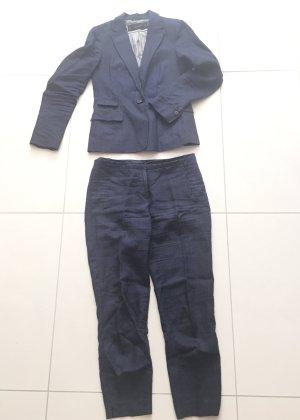 Anzug Zara aus Leinen dunkelblau Gr.36/S