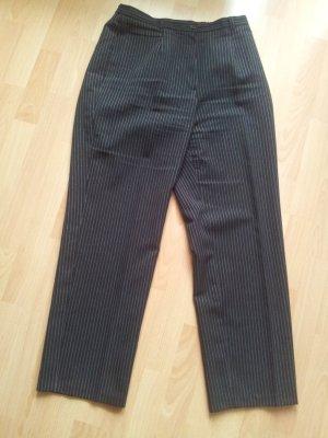 Anzughose Gr. 42 schwarz weiße Nadelstreifen
