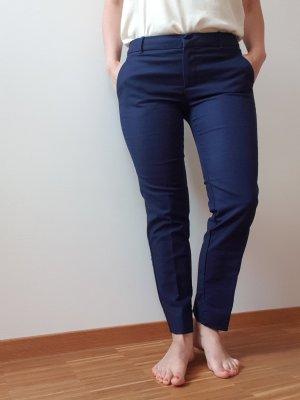 Mango Pantalon donkerblauw
