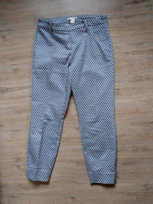H&M Pantalone da abito bianco-blu neon