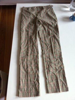 Anzugshose gerade geschnittene Hose kariert von Benetton