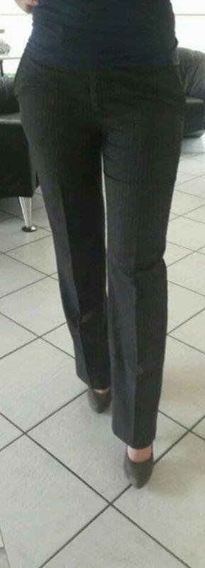 Anzugshose grau weiß liniert gestreift 36 H&M Hose Stoffhose