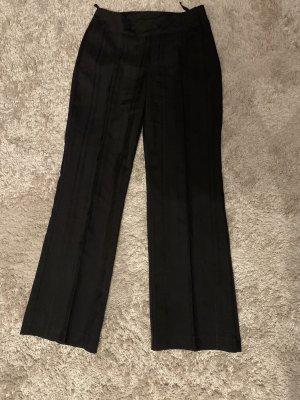 Anzugshose Hose Stoff Gr 38 M schwarz gestreift