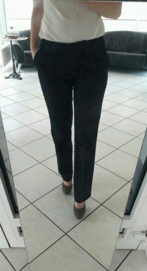Anzugshose schwarz Esprit Stoffhose Bundfalte Business Hose Damen 34 XS