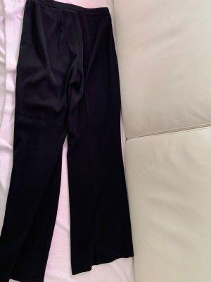 Monari Broek met wijd uitlopende pijpen zwart