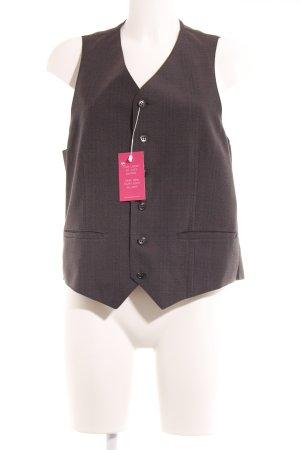 Waistcoat dark grey-russet pinstripe business style