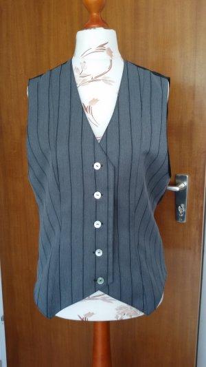 Gilet de costume noir-gris tissu mixte