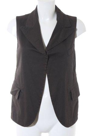 Waistcoat black brown Rivet elements