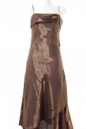 Apanage Evening Dress brown wet-look