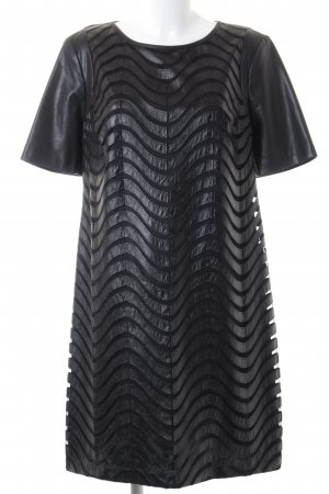 Apanage Abendkleid schwarz Streifenmuster Elegant