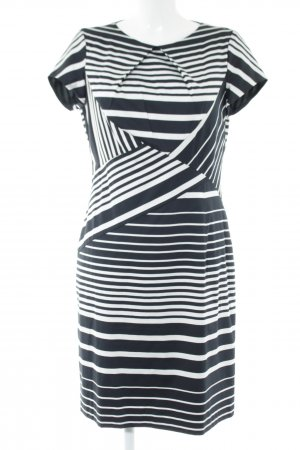 Apanage Sheath Dress black-white striped pattern elegant
