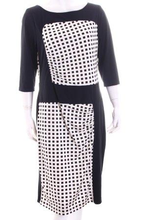 Apanage Etuikleid schwarz-weiß Karomuster Eleganz-Look