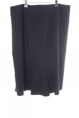 Apanage Falda de talle alto negro estilo «business»