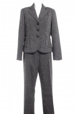 Apanage Trouser Suit black-oatmeal check pattern business style