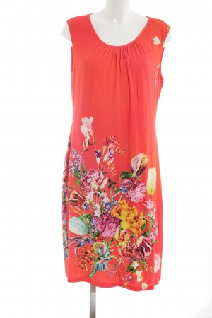 Apanage Jersey Dress red-light orange flower pattern casual look