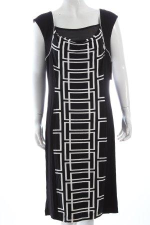 Apanage Robe en jersey noir-blanc motif abstrait style décontracté