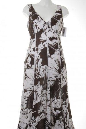 Apanage Jerseykleid weiß-braun florales Muster klassischer Stil