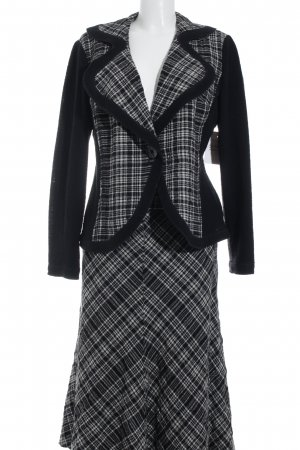 Apanage Ladies' Suit black-white check pattern casual look