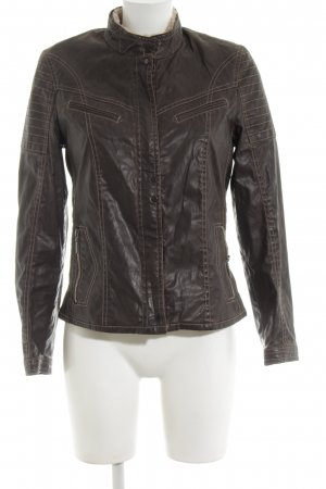 Apanage Faux Leather Jacket brown casual look