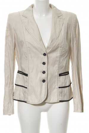 Apanage Short Blazer natural white allover print classic style