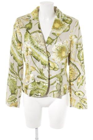 Apanage Kurz-Blazer Blumenmuster extravaganter Stil
